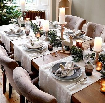 6 idee per apparecchiare il tavolo a Natale