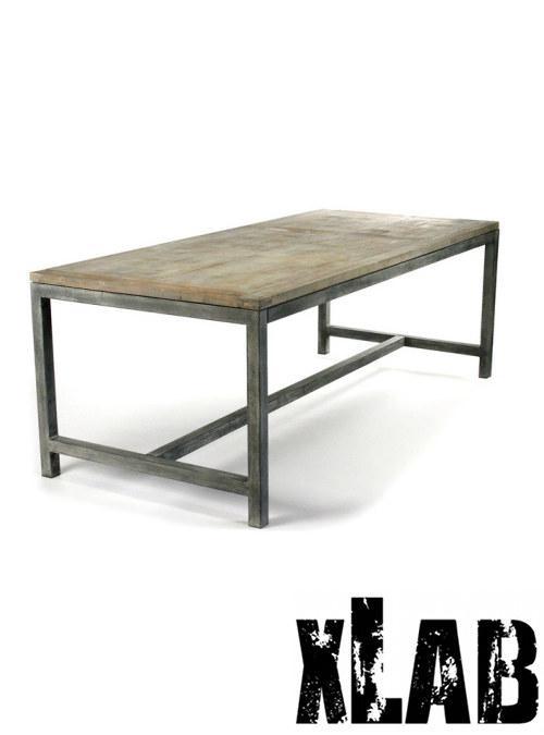 Tavolo In Legno E Ferro Grezzo Industriale Zack Xlab