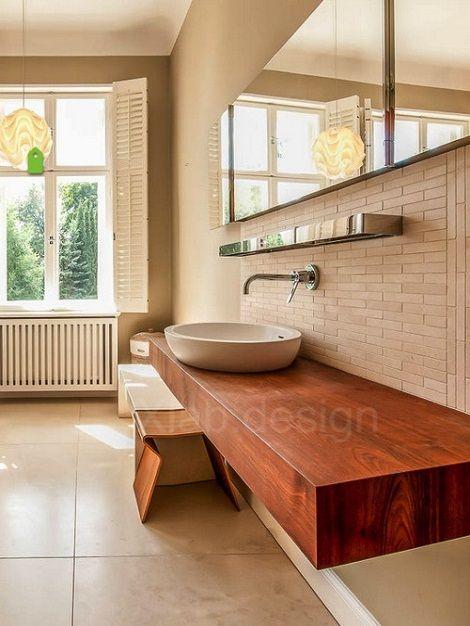 Top Lavabo In Legno Mensole Da Bagno Su Misura Xlab Design