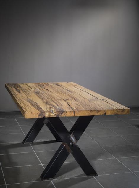 Tavolo in legno massello antico: Rick - XLAB Design