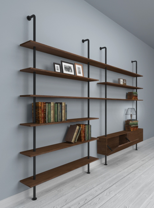 libreria-parete-design-legno-massello-svevo-stile-moderno-offerta