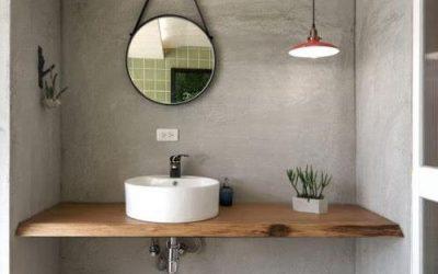 Top in legno per lavabo da appoggio: l'arredo bagno del 2018