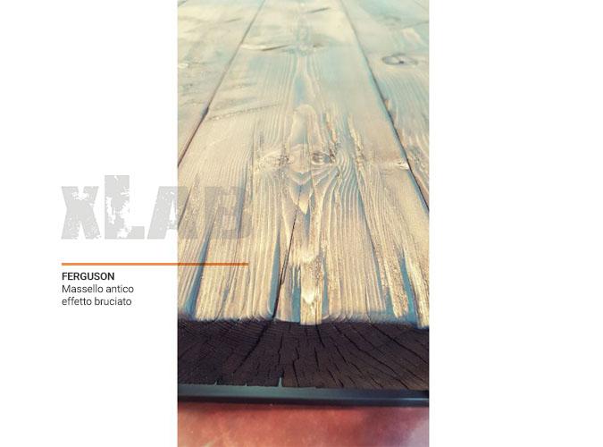 Tavolo in legno massello effetto bruciato Ferguson