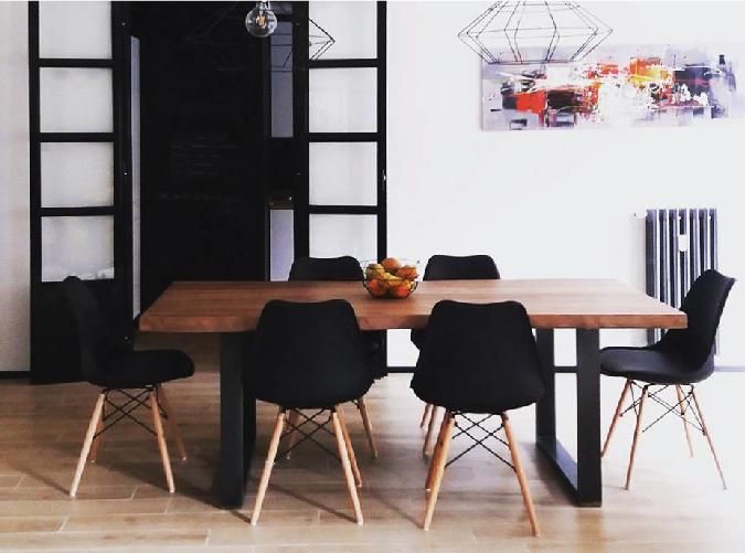 Blog tavolo legno gambe nere
