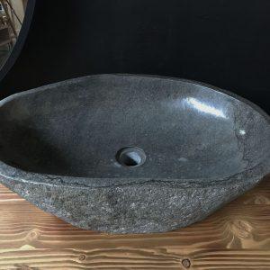 Lavabo da bagno in pietra naturale Khons