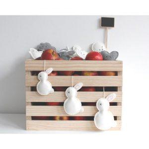 Casetta in legno porta giocattoli per bambini Conny