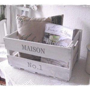 Cassetta shabby chic portariviste Maison