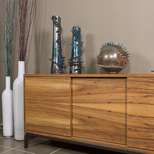Credenza da soggiorno in legno noce nazionale Living Stock