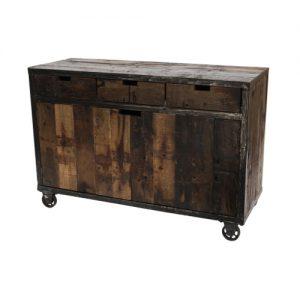 Credenza in legno massello di riciclo Burton