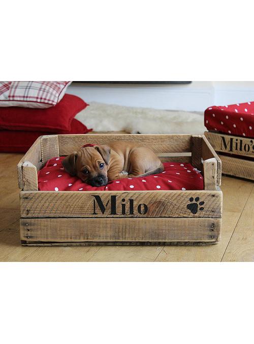 Lettino per cani vintage milo in legno di recupero xlab for Arredamento per cani