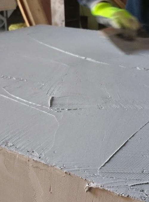 Tavolo Consolle In Legno Effetto Cemento Grey Xlab