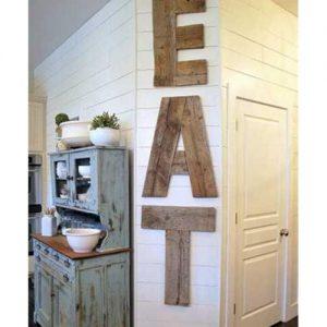 Decorazione da parete EAT in legno massello