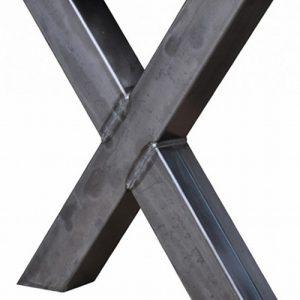 Gambe a X in ferro grezzo Golden Gate Bridge 60×70