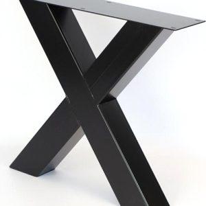 Gambe a X in ferro laccato nero Golden Gate Bridge 60×70