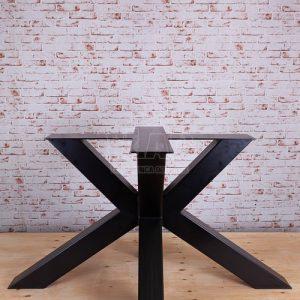 Gambe a stella in ferro Paderno colore nero sezione 100×100