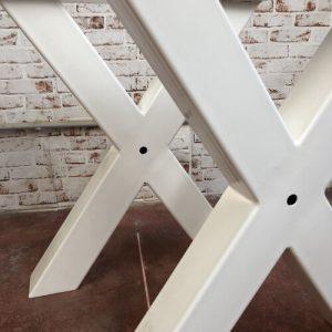 Coppia di gambe a X in ferro bianche Michael