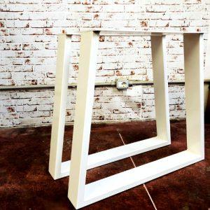 Coppia gambe in ferro trapezio Harbour Bridge bianco