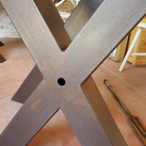 Coppia di gambe a X in ferro effetto ruggine Bixio