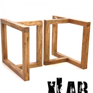 Gambe in legno massello per tavoli Mazzini