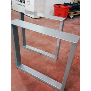 Coppia gambe ferro colore alluminio metal Hélix