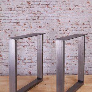 Coppia gambe ferro anticato per tavolo Brooklyn