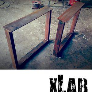 Gambe in ferro effetto ruggine per tavoli Iron Bridge 75×70