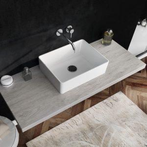 Offerta lavabo rettangolare in ceramica 49×37,5