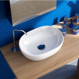 Offerta lavabo bacinella d'appoggio in ceramica 60×40