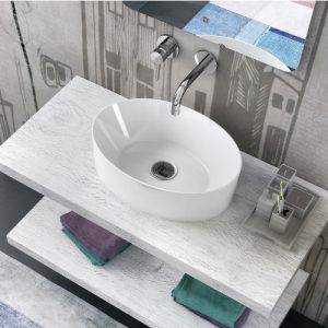 Offerta lavabo bacinella ovale in ceramica 50×35