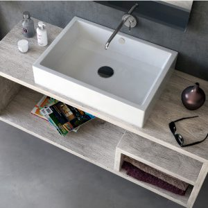 Offerta lavabo d'appoggio rettangolare in ceramica 51×36