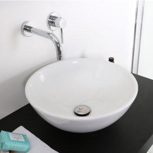 Offerta lavabo bacinella tondo in ceramica 41×41