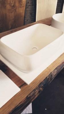 Offerta sottocosto lavabo in ceramica rettangolare 62x42x16cm