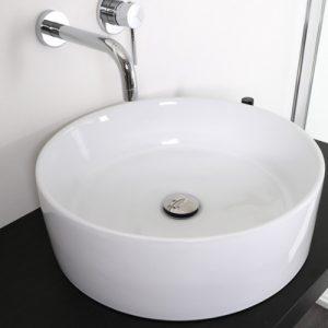 Offerta sottocosto lavabo tondo in ceramica diametro 40,5 cm
