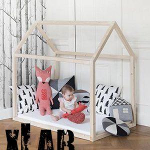 Lettino casetta in legno da bambini ecologico