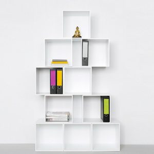 Libreria componibile set 10 cubi da parete Manzoni