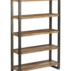 Libreria stile industriale legno e ferro Kafka