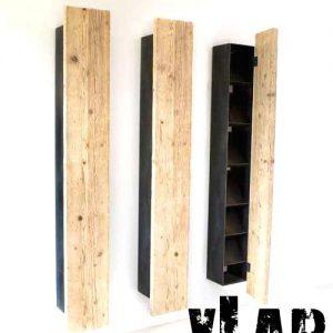 Mensola libreria da parete legno e ferro Spark