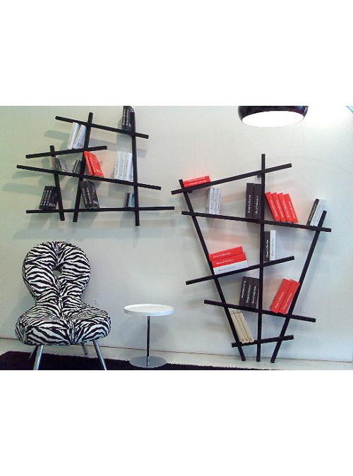 Ben noto Libreria da parete in legno massello nero Lishang Xlab SY95