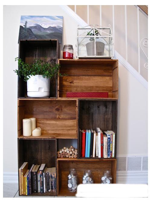 Libreria da parete in legno di riuso modello saba xlab for Immagini librerie d arredamento