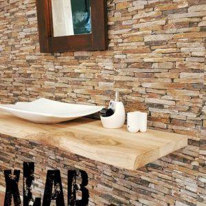 Offerta mensola bagno per lavabo da appoggio 130×50 cm in varie finiture
