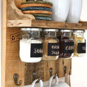 Colter mensola da cucina con barattoli eco design