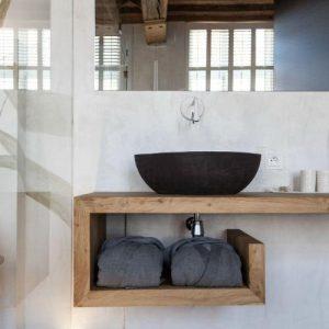 Mensola in legno massello Claire piano lavabo disponibile in varie misure