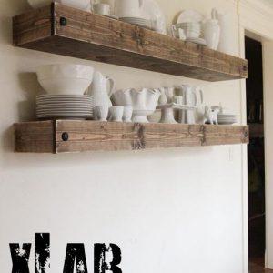 Mensola da parete forte spessore in legno made in Italy