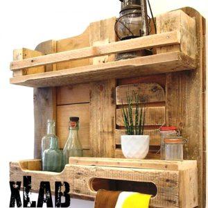 Mensola da cucina riutilizzo eco design in pallet Elis