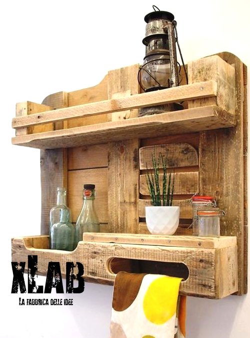 mensola da parete per cucina in legno pallet elis xlab On pallet immagini