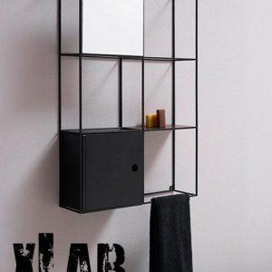 Mensola libreria da parete Iron 80x20x120