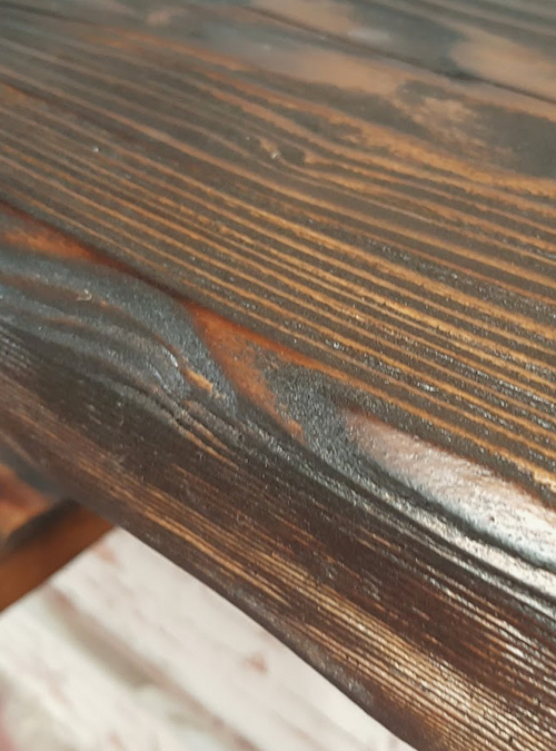 Mensola da parete stile rustico in legno massello xlab for Arredamento mensole a parete