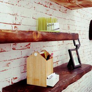 Mensola da parete in legno invecchiato