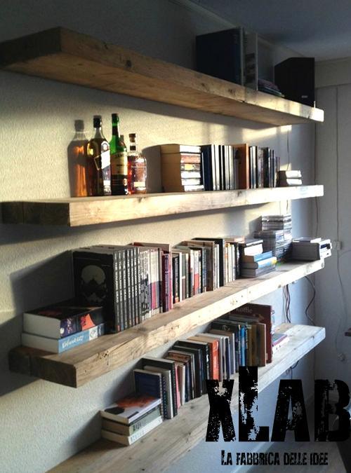 Mensola da parete stile vintage in legno bound xlab for Arredamento mensole a parete