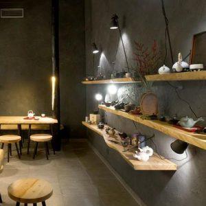 Mensola da parete in legno di castagno massello Jessica